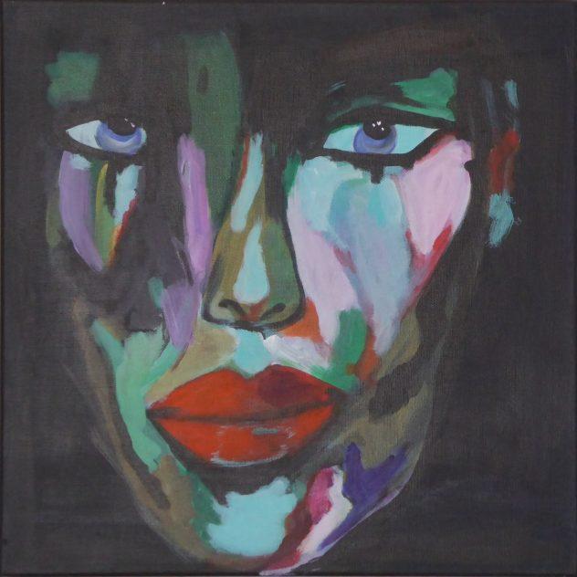 Gesicht-Studie 3 Acryl auf Leinwand 40x40